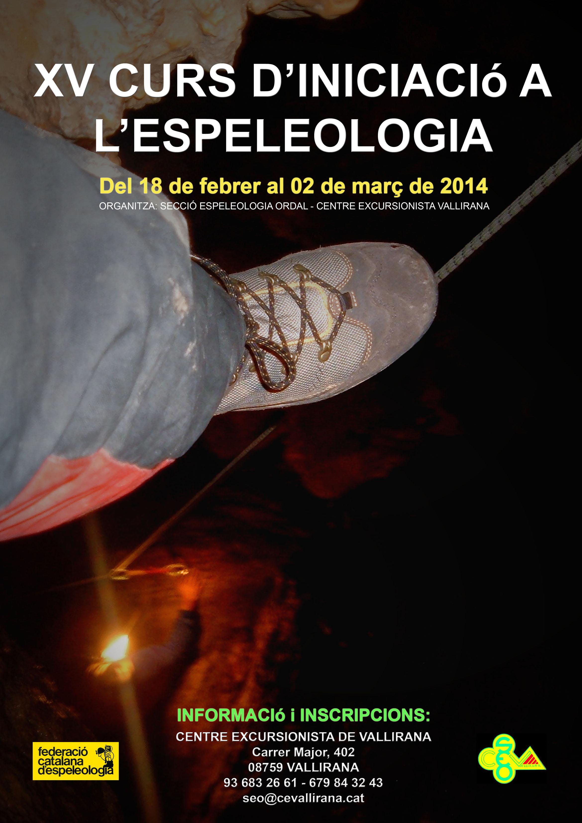 Cartell Curs d' Espeleòlogía